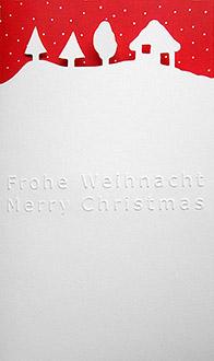 Weihnachtskarte mit traumhafter schneelandschaft for Weihnachtskarten mit firmenlogo