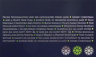 Dunkelblaue weihnachtskarten mit dekor gr n und silber - Weihnachtskarte spanisch ...