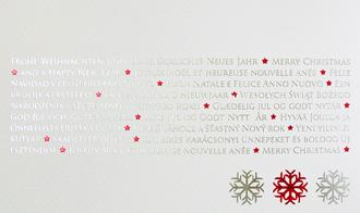 Silber weihnachtskarten mit rot silberner folienpr gung - Weihnachtskarte spanisch ...